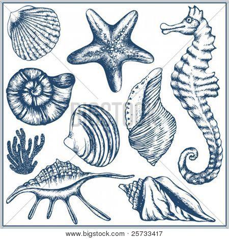 Doodle sea set