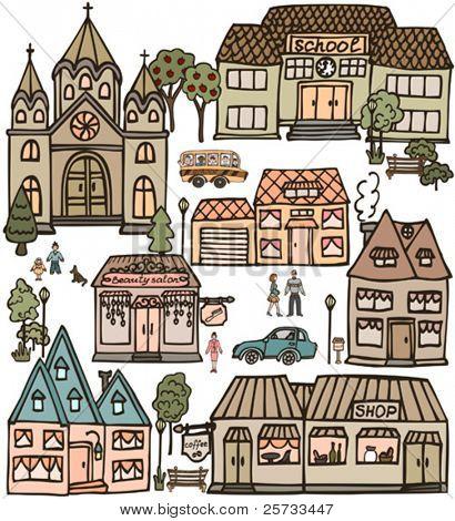 Colors doodle set
