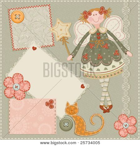 Scrap card,vintage design
