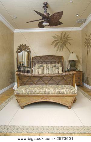 Tropical Wicker Bedroom 2