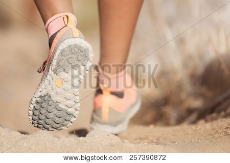 Young Woman With Athletic Sneakers