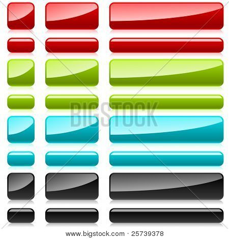 Color glossy blank buttons.