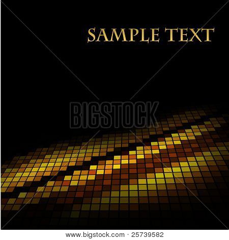 Abstract golden mosaic vector background.