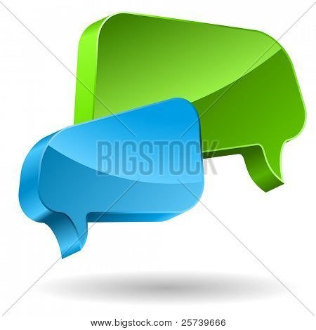Speech bubbles 3D icon.