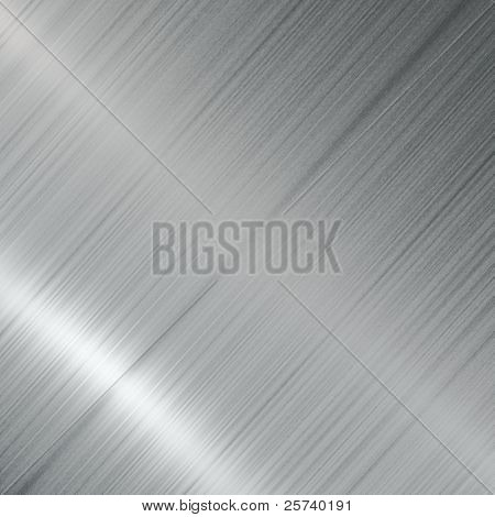 Brushed metal diagonal background.