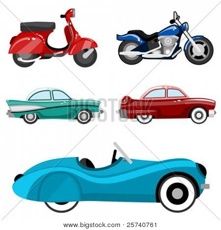 classic cars and motorcycles