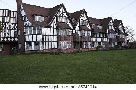 Tudor style houses.