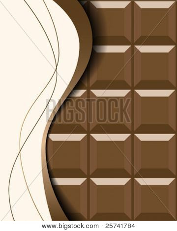 Abstract background with milk chocolate bar