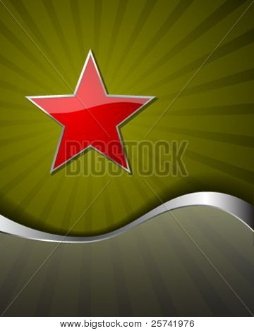 Festive background with red star