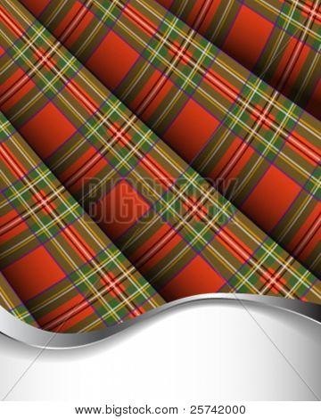 Tartán plisado rojo de fondo / vertical