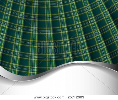 Green pleated tartan for background/horizontal