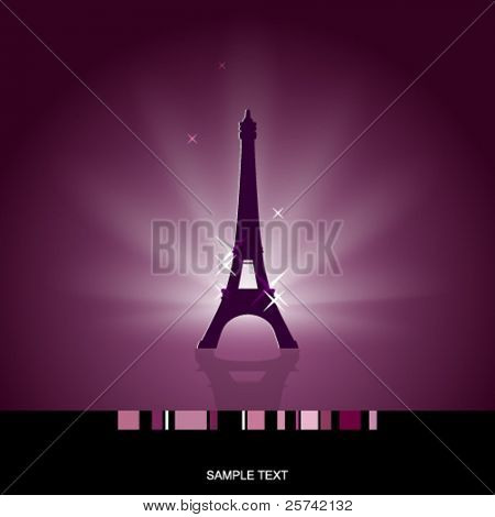 Eiffel tower card