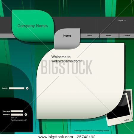Website design template, natural colors and shapes