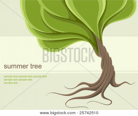 Stylized summer tree background