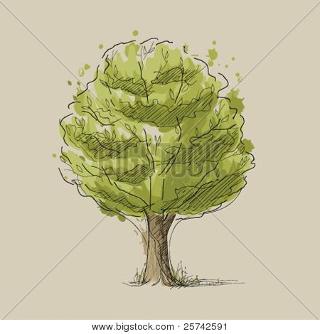 Stylized summer tree