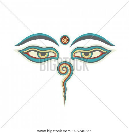 eyes of Buddha, vector