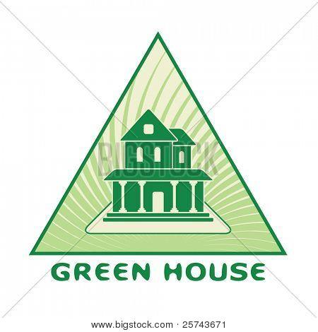 green house logo, vector