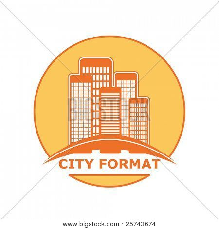 city format logo, vector