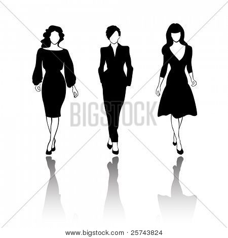 fashion models, vector