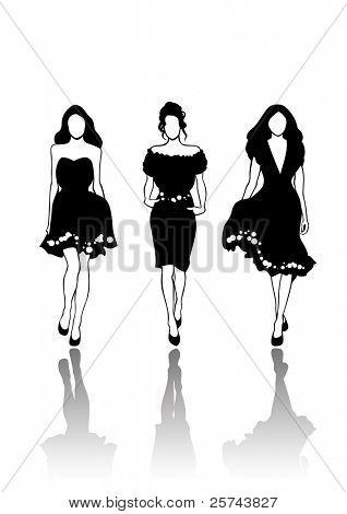 fashion models, vector