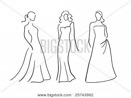 women fashion, vector