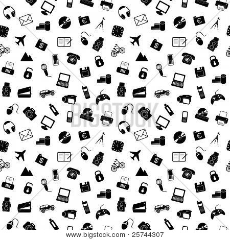 seamless pattern with things, vector