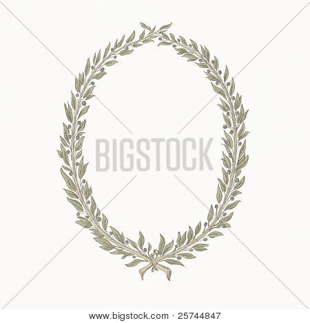 vector laurel wreath / frame, hand drawing