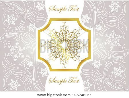 Silver and gold greeting card