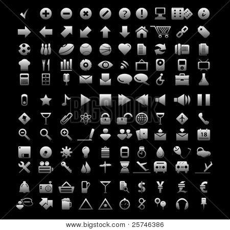 iconos de la web universal