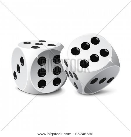 Dice, vector, easy to edit and manipulate