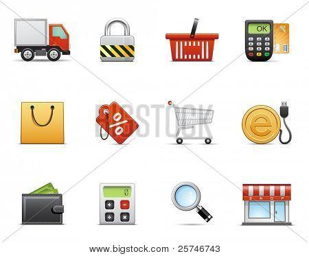 Conjunto de iconos comerciales