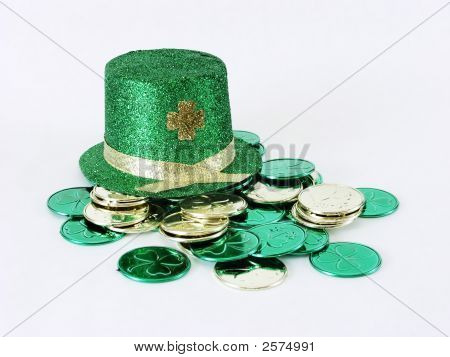 Irish Hat With Coins