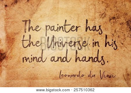 The Painter Has The Universe