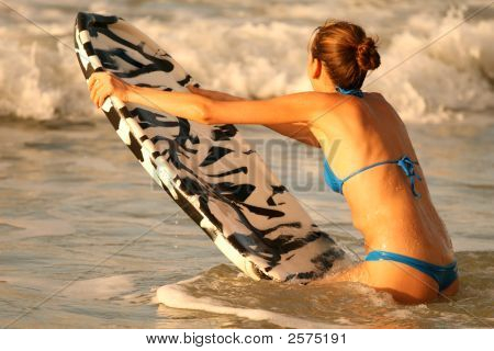 Water Sport With Boogie Board