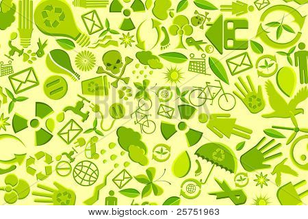 illustration of background made of recyclable item