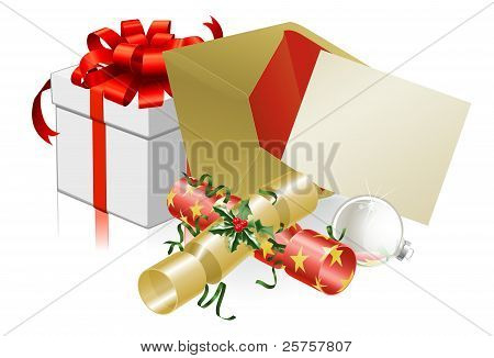 Christmas Letter Or Invite Scene