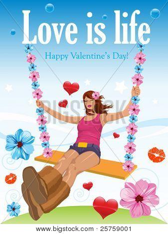 Happy Valentine Girl
