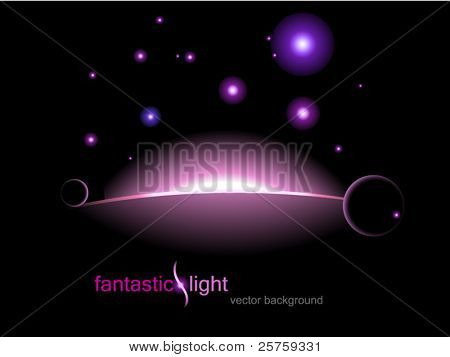 vector illustration fantastic light