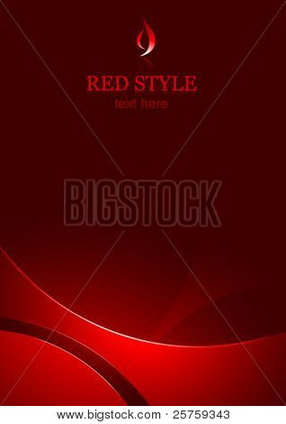 vector corporate business template background - red