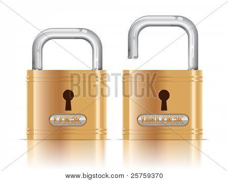 vector illustration of lock