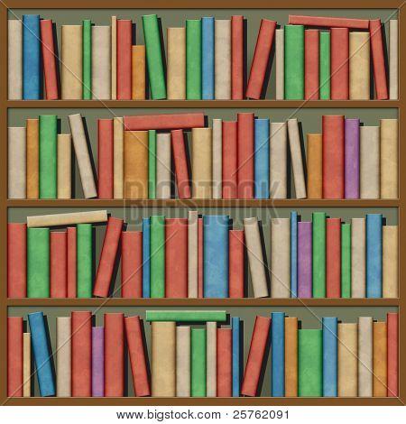 An Illustration of Books on a Shelf