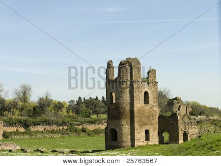 ruins of circus in Via Appia Antica