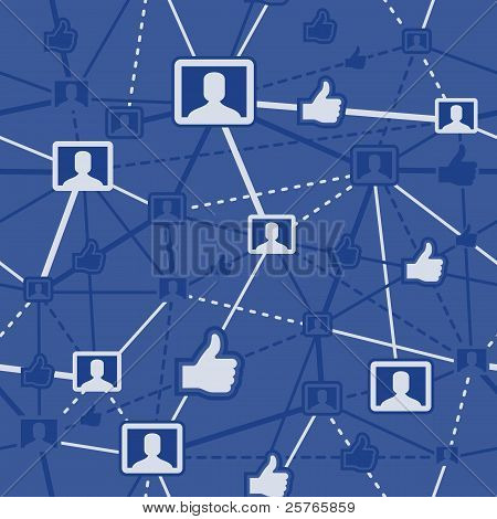 Seamless Social Networking Background