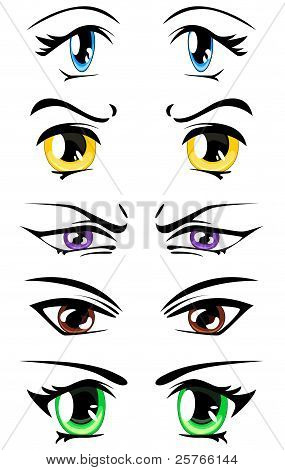 set of manga eyes