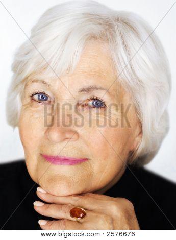 Senior Woman Portrait Closeup