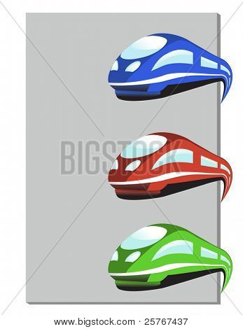 tren en tres colores