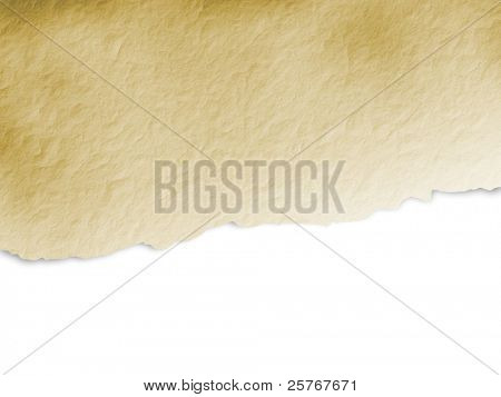 Torn beige paper background - grunge design