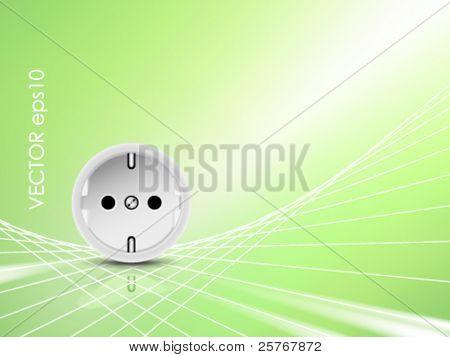 Zócalo blanco, salida contra el concepto de energía antecedentes brillante verde - verde, eco diseño - sy