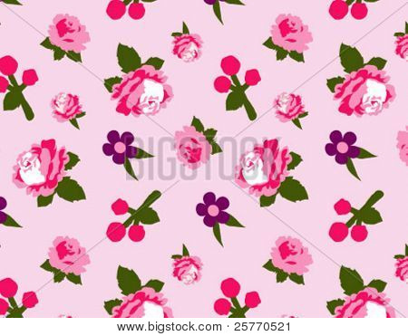 Mini floral seamless wallpaper