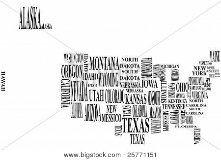 United States Map With Country Name